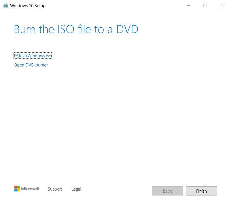 Windows 10 ISO created
