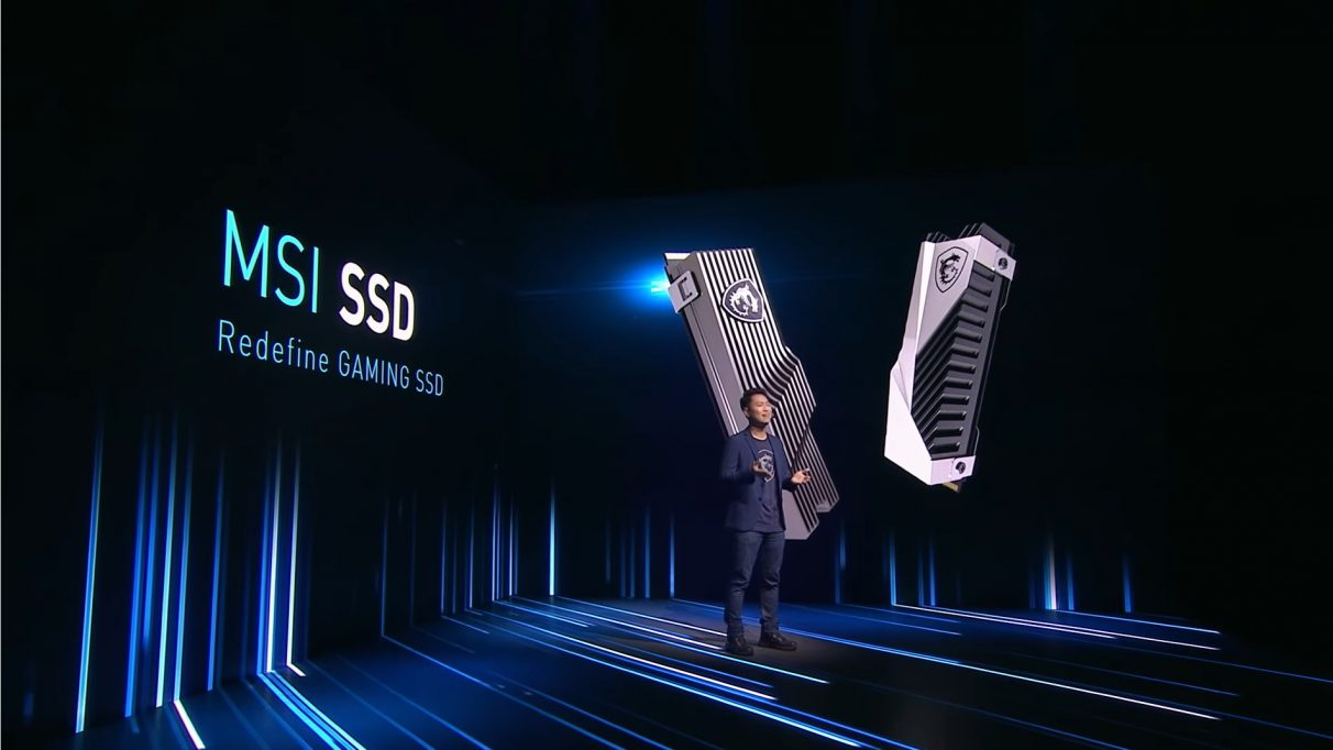 An image from MSI CES 2021 press conference where they revealed their first SSD.