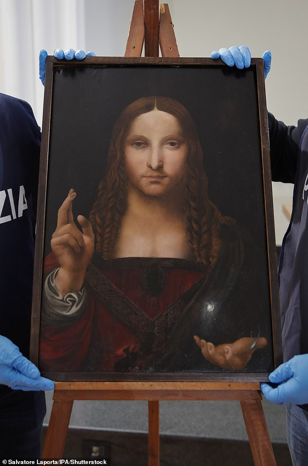 Agents found the painting hidden in an apartment on Via Strada Provinciale delle Brecce
