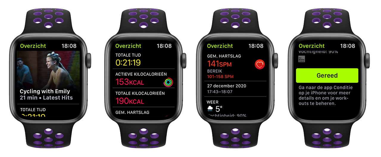 The Fitness + workout on Apple Watch is finished