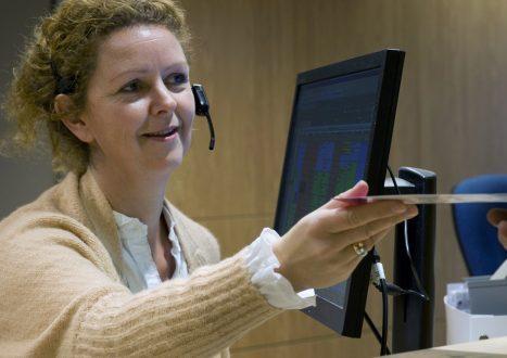 receptionist van gezondheidscentrum Heikant