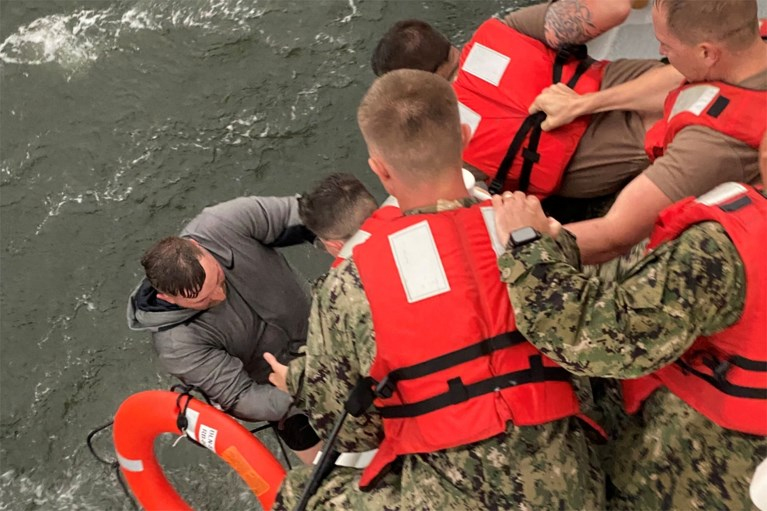 One dead and 12 missing after the ship capsized off Louisiana