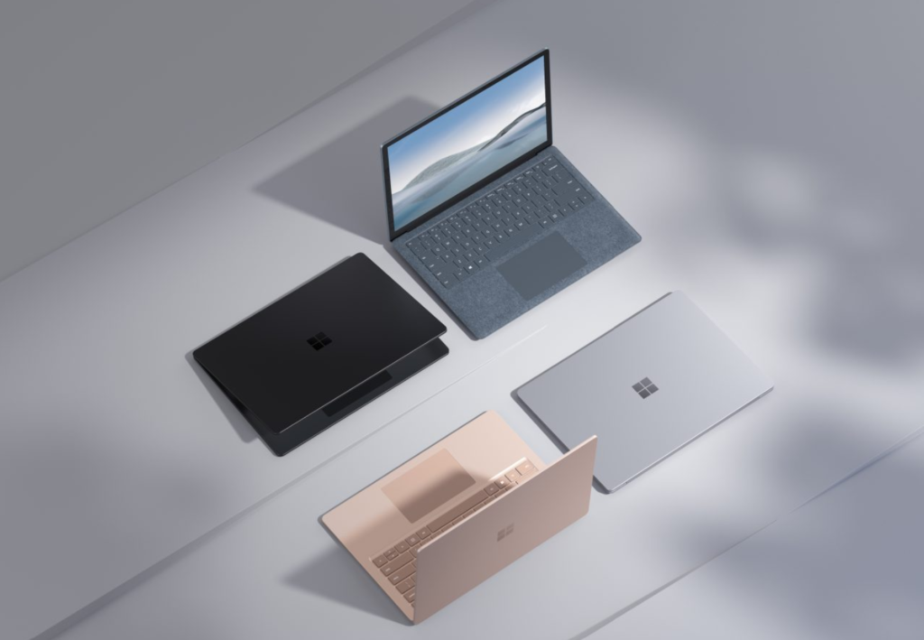 Microsoft Surface Laptop 4 in all versions.