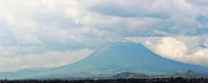 Picture for illustration.  Nyiragongo volcano in the Congo