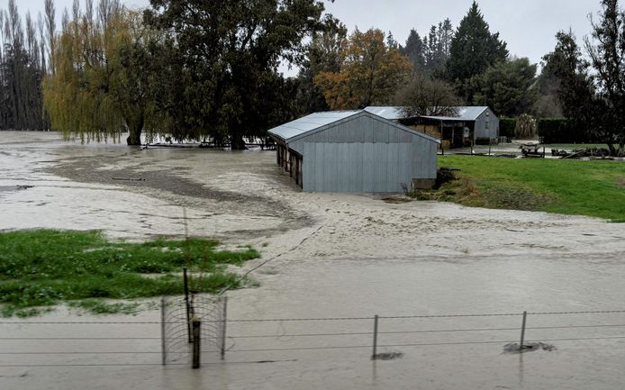 Water also struck several homes in the Canterbury area.