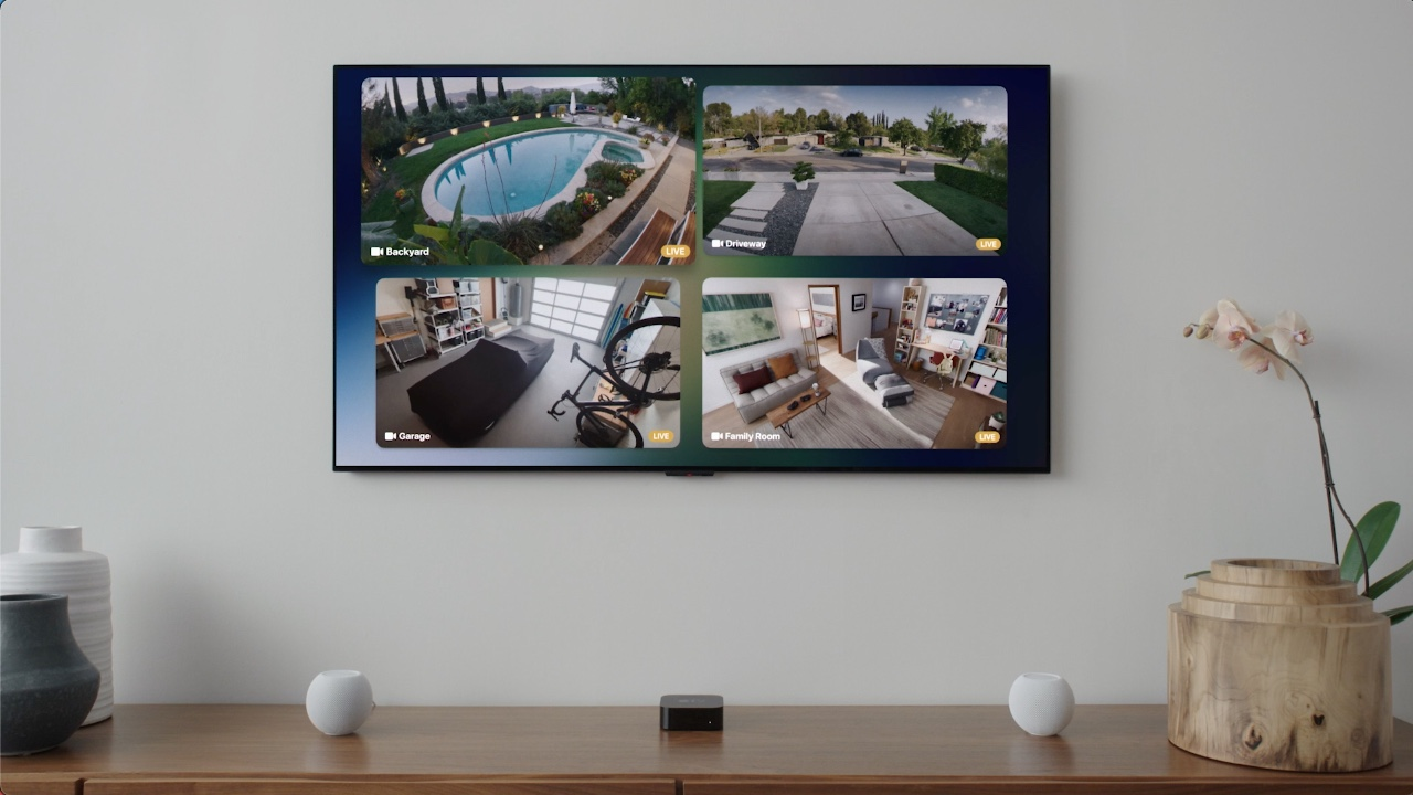 See all cameras from Apple TV