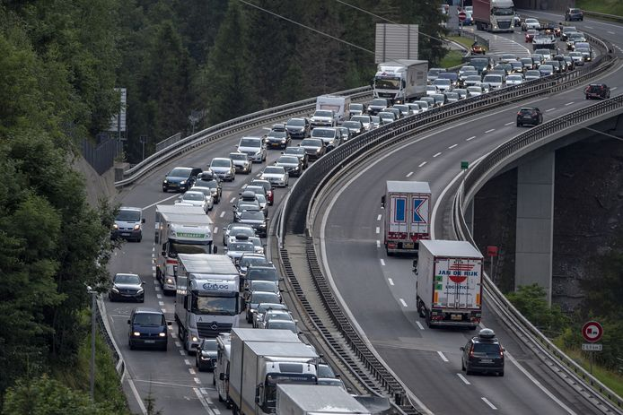 Long traffic jams are also expected in the Gotthard Tunnel in Switzerland this weekend.