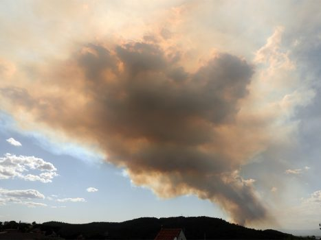 Forest fires west of Barcelona out of control