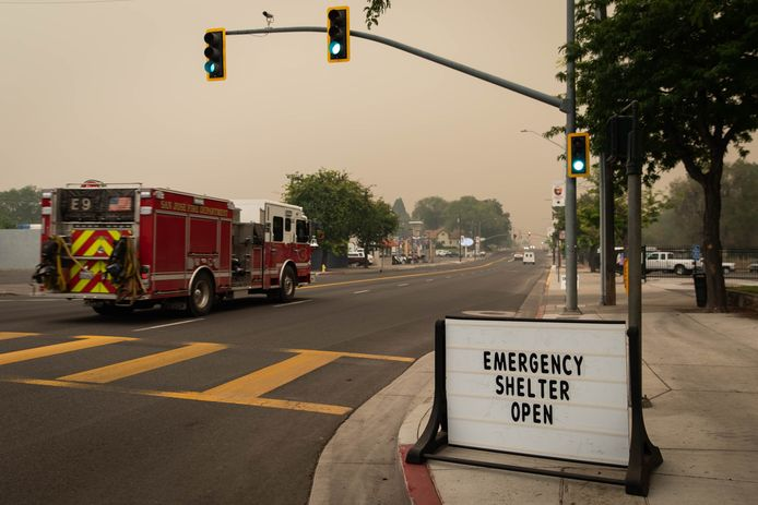Thousands of residents fled the flames, and many took refuge in temporary shelters and camps.