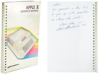 Apple II guide, illustrated by Steve Jobs