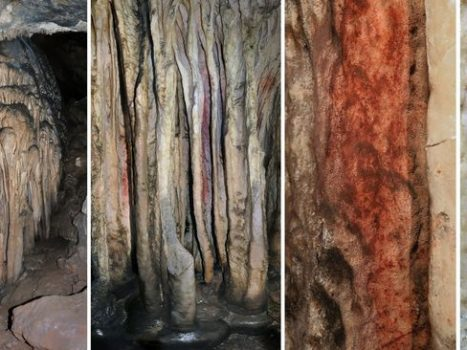 The red pigment in the Spanish cave appears to have been applied by Neanderthals more than 60,000 years ago