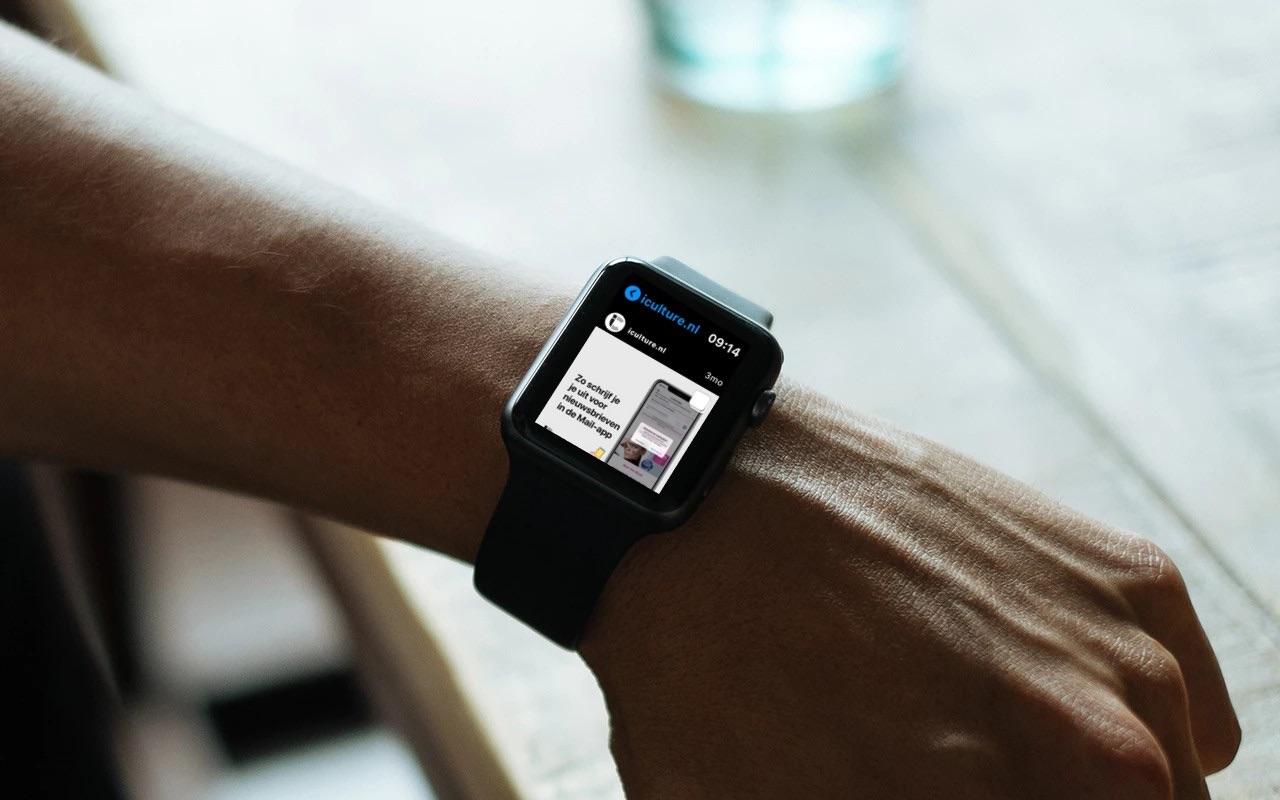 Lens Instagram app on Apple Watch.