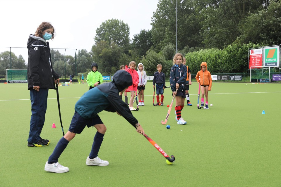 Some kids are introduced to hockey for the first time during KMTHC's summer internship.
