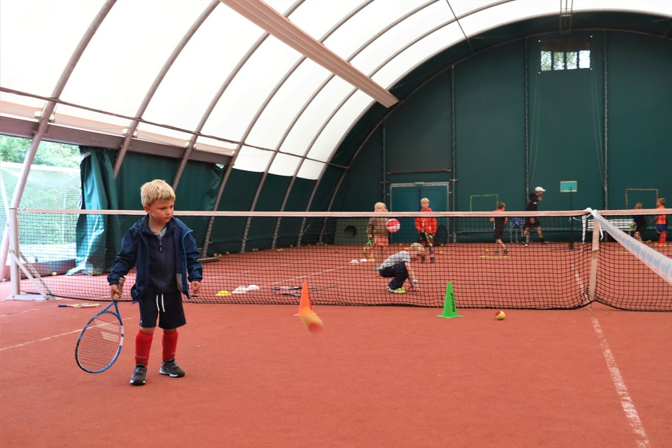 Combined training in tennis and hockey is unique in the region.