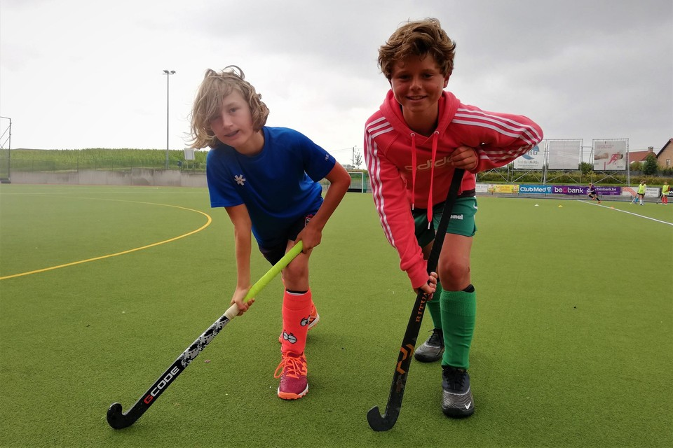 Emile and Lewis Max have already got some rhythm in for the new hockey season.
