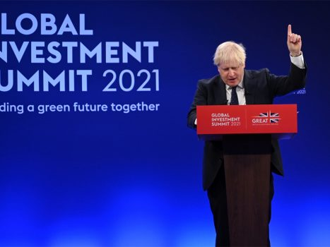 Johnson proposes a zero-emissions plan by 2050